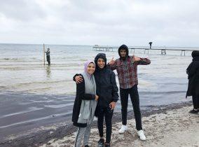 3 elever på felttur til Solrød Strand