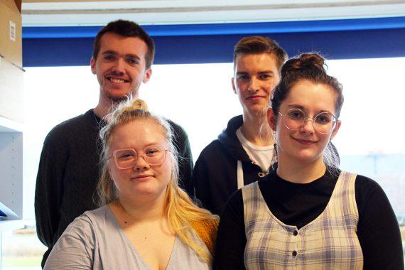 Asta, Anders, Agnete og Magnus fra 3.S fik en flot 2. plads i Geoforums klimakonkurrence